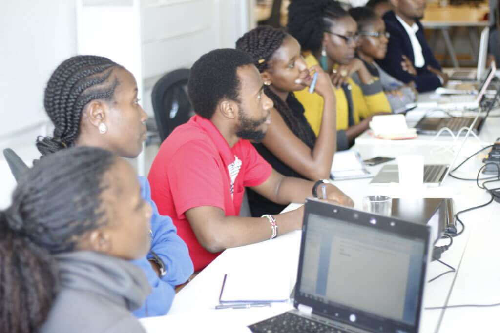 Participants of a digital marketing training in Nairobi at Digital4Africa